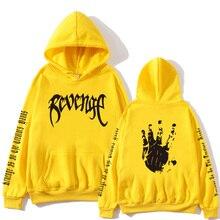 Xxxtentacion Revenge Hoodies Men/Women Sweatshirts Rapper Hip Hop Hooded Pullover Sweatershirts Male/Women Clothes Hoodie Men цена