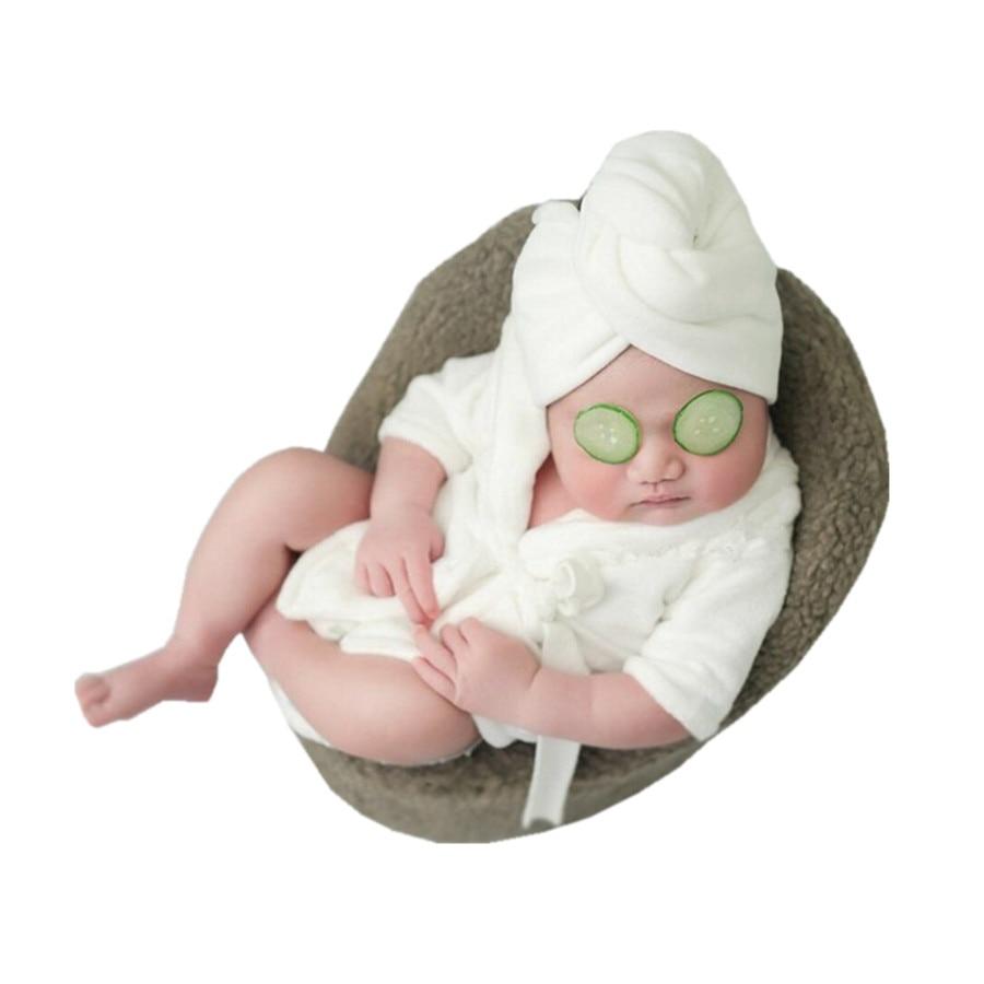 Newborn Bathrobe New Children's Photography Clothing Bathrobe Newborn Photography Props CHD10135