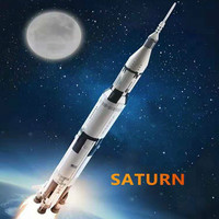 Apollo Saturn V Space Launch Vehicle USA Rocket Model Building Blocks Toys for Children Gift Compatible Legoed Toys 37003