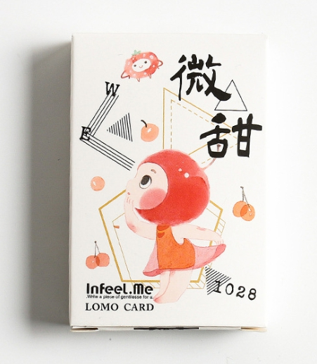 52mm*80mm Little Sweet Paper Greeting Card Lomo Card(1pack=28pieces)