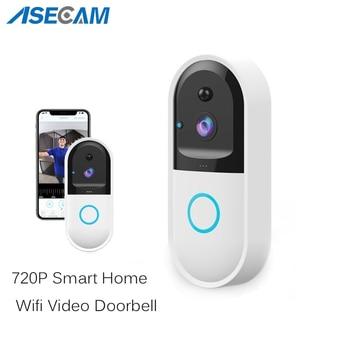 HD 720P Smart Wireless Wifi IP Security Camera Video Door Bell Intercom Phone Doorbell Apartments FIR Alarm Home IR Night Vision