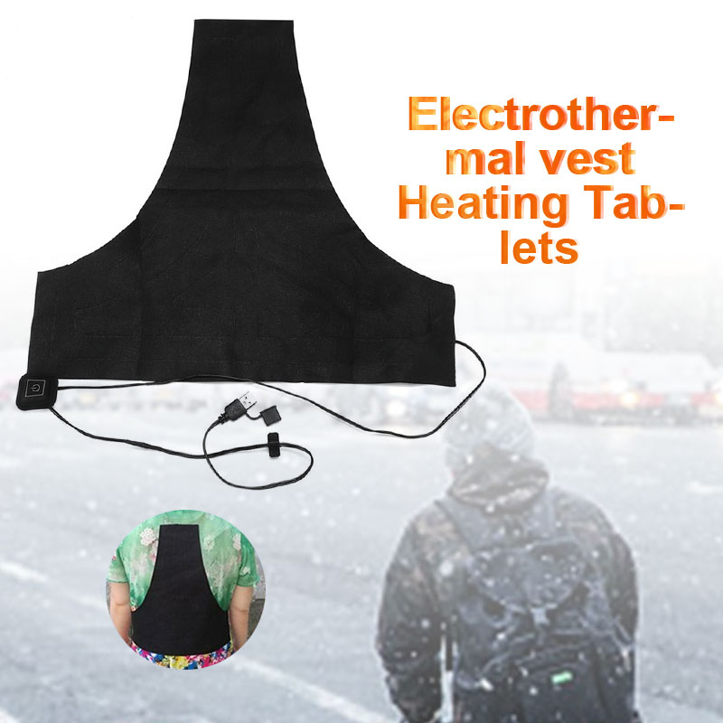 Clothes Heater Warmer Pads 5pcs USB Black Jacket Coat 3 Gear Adjusted Electric Heater Pad