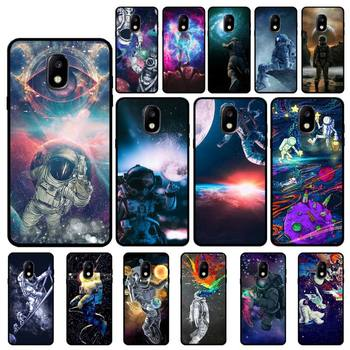 Trippy Art aesthetic Space astronaut Soft Phone Case For Samsung Galaxy J7 J6 J6PLUS J8 J4 J4Plus J7DUO J7NEO J2 J5 J6 J7 Prime image