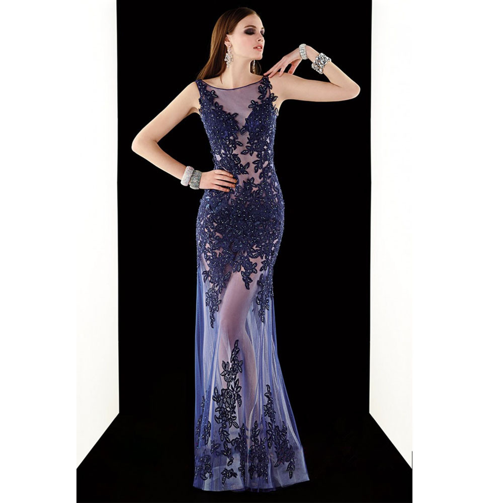Amazing Design O Neck Beading Vestido De Noite Longo Women Long Elegant Evening Gown 2018 Appliques Mother Of The Bride Dresses
