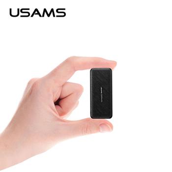 5000mAh mini powerbank dla iPhone Samsung zewnętrzna ładowarka do baterii USAMS ultra-cienki powerbank typu C szybkie ładowanie powerbank tanie i dobre opinie Bateria litowo-polimerowa Rok wybudowania kable Pojedyncze USB 2600-4999mAh Do smartfona Micro Usb USB Typu C Z tworzywa sztucznego