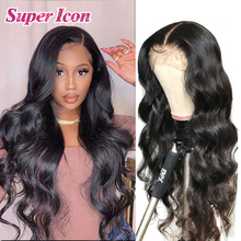 Wig Baby-Hair Body-Wave Lace-Front Human 30inch Brazilian Preplucked Super-Icon for Woman