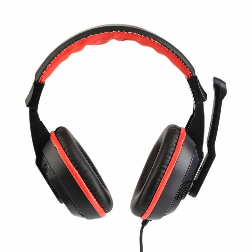 הגעה חדשה אוזניות עם מיקרופון מתכוונן משחק משחקי אוזניות סטריאו סוג מבטל רעשים עבור מחשב PC