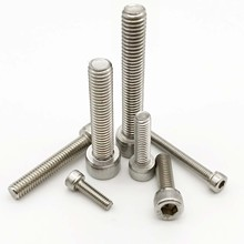 10/50pcs M1.4 M1.6 M2 M3 M4 M5 M6 304 A2-70 Stainless Steel DIN912 Hexagon Hex Socket Cap Allen Head Bolt Screw Length 2-80mm