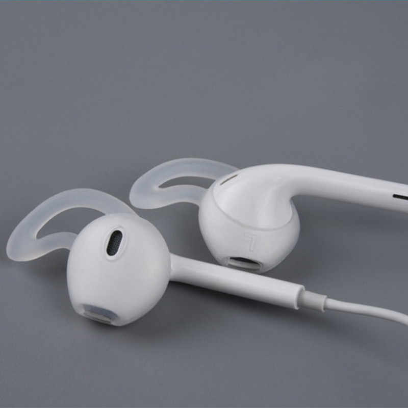 4/2 Buah Sarung Earbud Earphone Case untuk Apple Iphone X 8 7 6 Plus Earpods Headphone Eartip telinga Sayap Hook Cap Earhook
