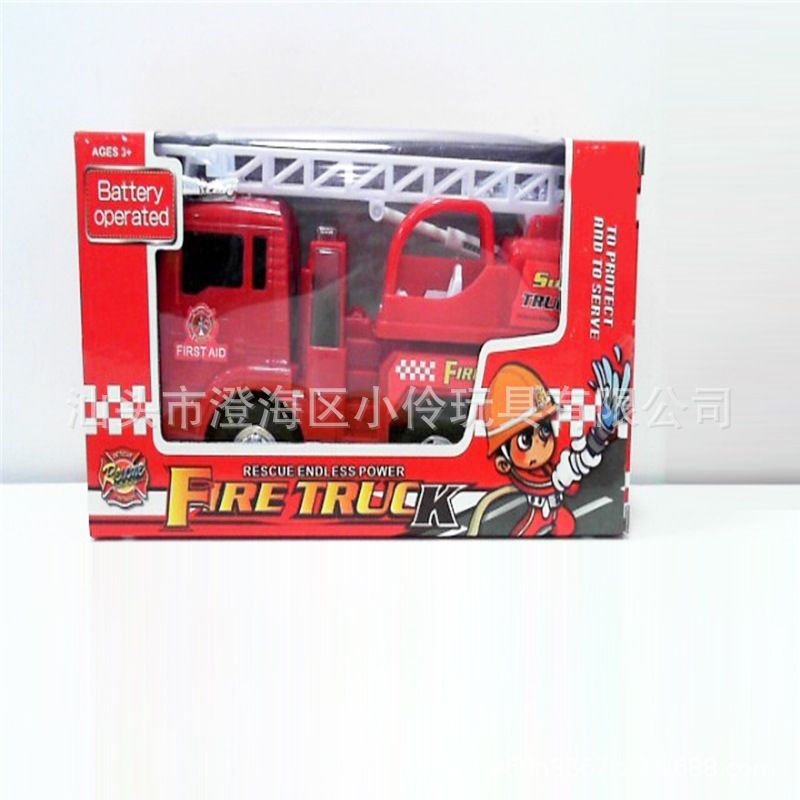 Children Fire Toy Car Fire Truck Electric Universal Water Spouting Model Toy Stall Hot Selling