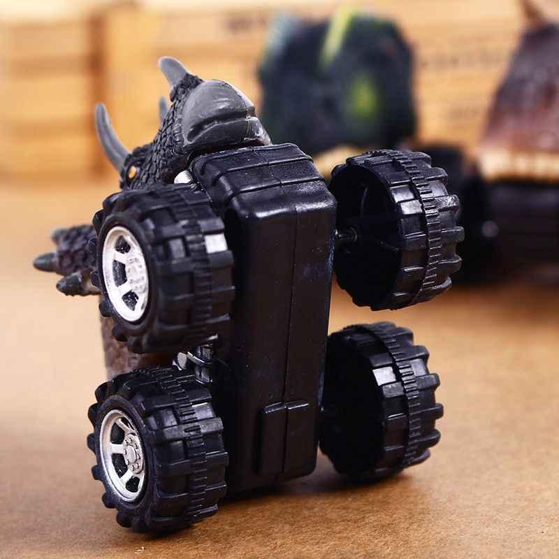 Çocuk günü hediyesi oyuncak dinozor modeli Mini oyuncak araba geri araba hediye Triceratops
