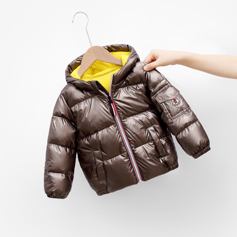 Boys Girls Jackets Hooded Outerwear Winter Children Warm Thick Jacket For Kids Clothes Baby Outerwear Zipper Coats Ski Jacket 5