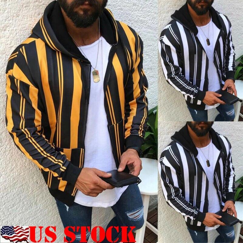 Men Winter Hoodie s Slim Fit Hooded Sweatshirt Outwear Sweater Warm Coat Jacket