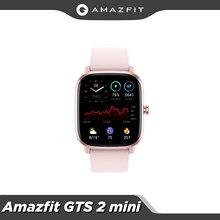 Auf Lager Original Amazfit GTS 2 Mini Smartwatch Bluetooth 5,0 Weibliche Zyklus Tracking 14 Tage Batterie Lebensdauer GPS Sport Für android