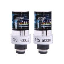 2X 35W 5000k D2S/D2C Xenon Car Replacement HID White Headlight Light Lamp Bulbs