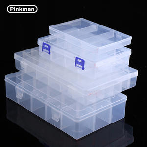 Storage-Box Organizer Case Jewelry-Tool-Box Terminal Small-Component Plastic Transparent