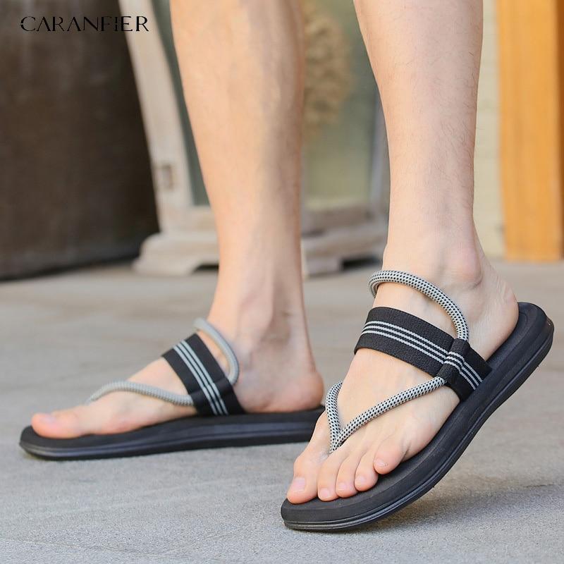 Mens Roman Beach Shoes Gladiator Faux Leather Flats Sports Sandals Plus Size
