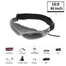 HD922A Smart Video Glasses FPV 3D Glasses Head-Mounted Display Glasses 80 Inches Wide Screen AV Input for PS3 DVD Player
