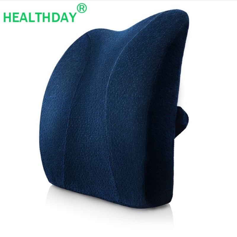 1PC  Lumbar Support Back Waist Cushion Memory Foam Pillow For Chairs Car Home Office Seat Pillows Relieve Pain Back Cushion