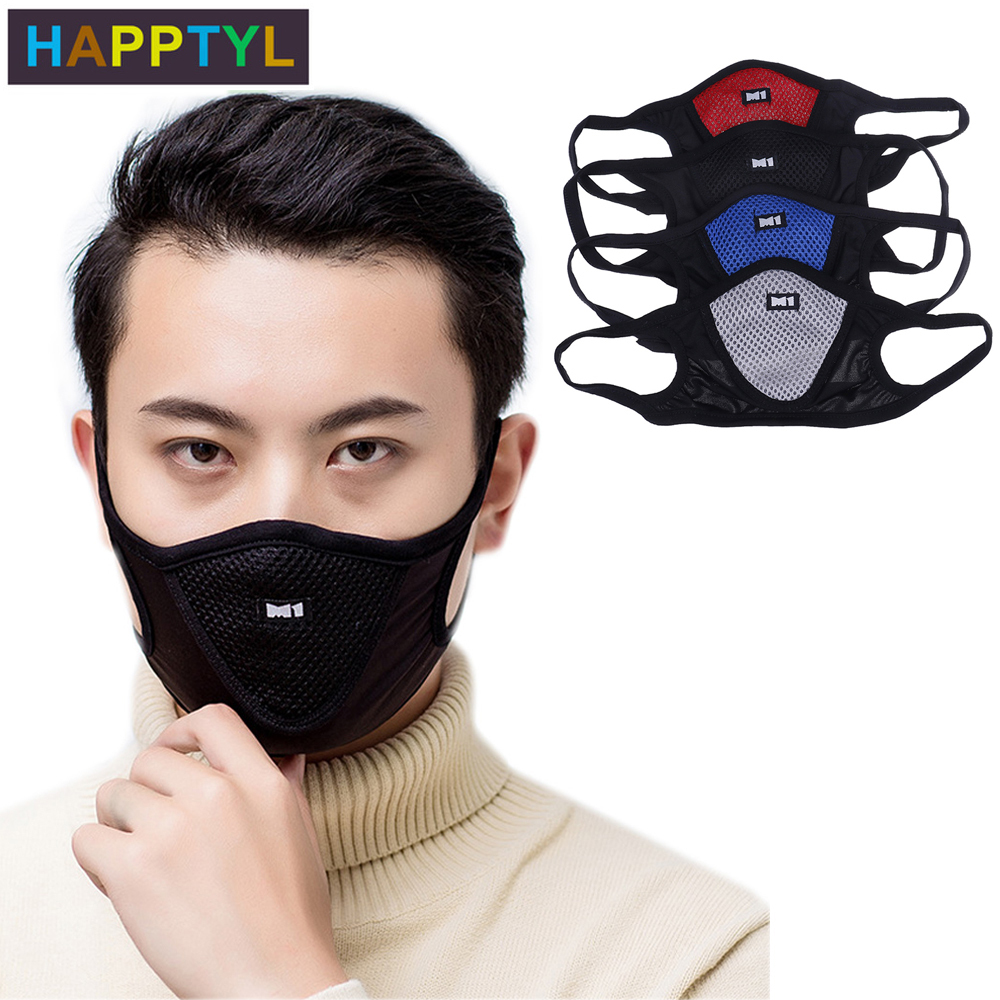 HAPPTYL 1Pcs 3D Cropped Pollution Mask Anti Air Dust And Smoke Pollution Mask Windproof Washable Mask Made For Men Women