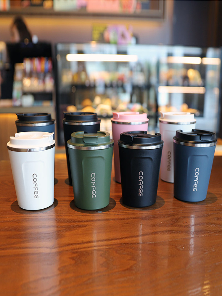Flask Coffee-Mug Mug Travel Gifts New 500/380ML Vacuum for Thickened Big