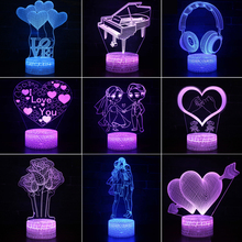 3D LED Lamp Creative 3D LED Night Lights Kids Novelty Illusion Night Lamp RGB 3D Illusion Table Lamp For Home Decorative Light 3d лампа 3d lamp утенок