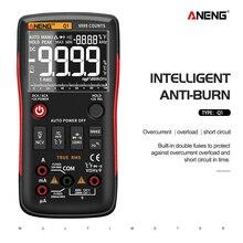 ANENG Q1 мультиметр тестер 9999 мультиметр цифровой rm409 esr meter digital multimeter транзистор тестер указатель напряжения конденсаторов tester мультиметры мультиметр с термопарой dc dc analog multimeter