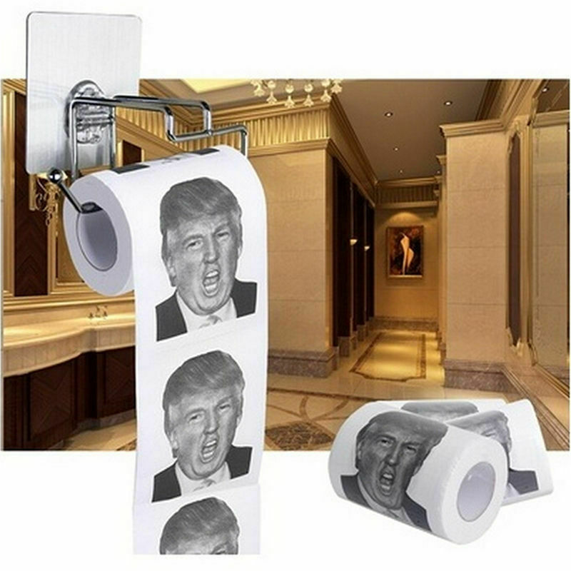 Funny President Donald Trump Humor Novelty Prank Joke Toilet Bathroom Paper