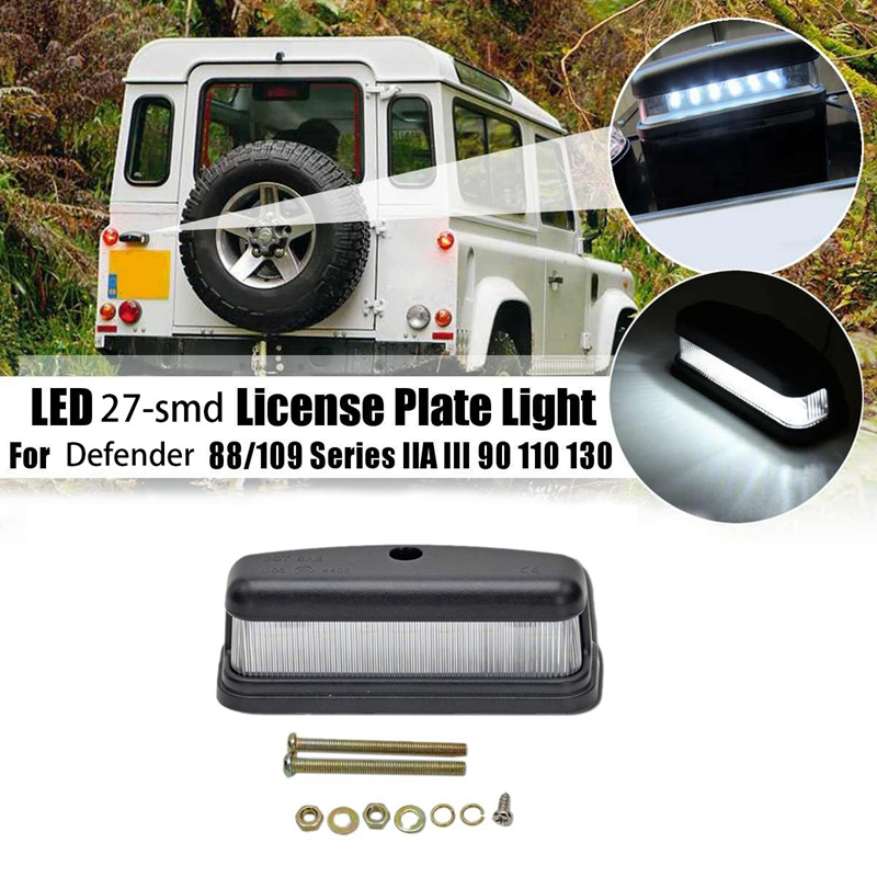 License Plate Light - 3W LED Replacement Bulbs For Land Rover Defender 90/110 1990-2016 White Rear Tail Lamp