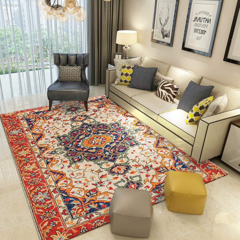 Vintage Persian Rug Home Carpets For Living Roon Moroccan Bedroom Carpet Sofa Coffee Table Floor Mat Study Room Decor Area Rugs