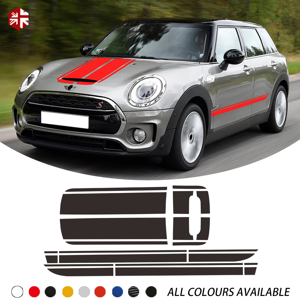 Car Hood Bonnet Engine Cover Trunk Rear Body Kit Decal Side Stripes Sticker For MINI Cooper S Clubman F54 One JCW Accessories