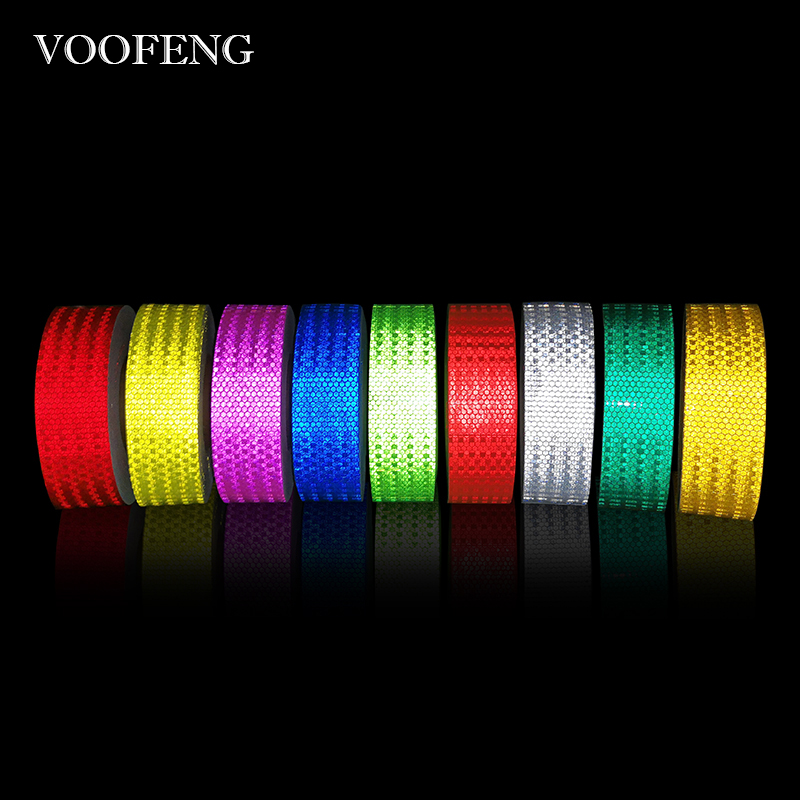 VOOFENG High Visibility Reflective Warming Tape Sticker Car Sticker Multi-Color Adhesive-Tape 5cm*50m