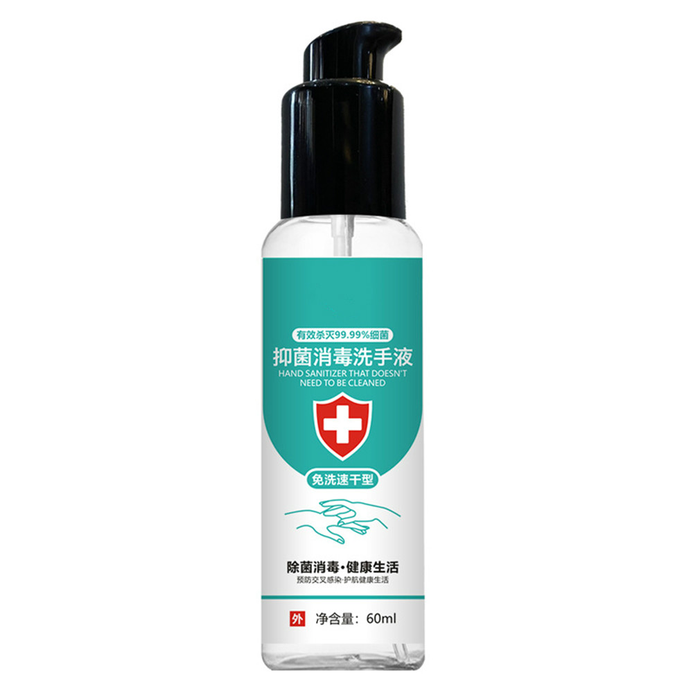 60ml Disposable Hand Sanitizer Hands-Free Water Disinfecting Hand Wash Gel Quick-drying Hand Cleaning Gel For Hand Moisturizing