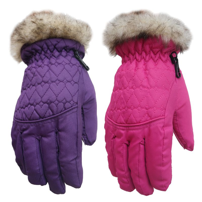 Children Ski Gloves For 5-12 Years Old Boy/Girl Winter Waterproof Snow Gloves For Outdoor Sports Mountain Climbing Skiing