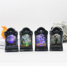 Halloween luminous Tombstone Skeleton LED Night Light Haunted House Grisly Toys Party Bar Decoration Prop