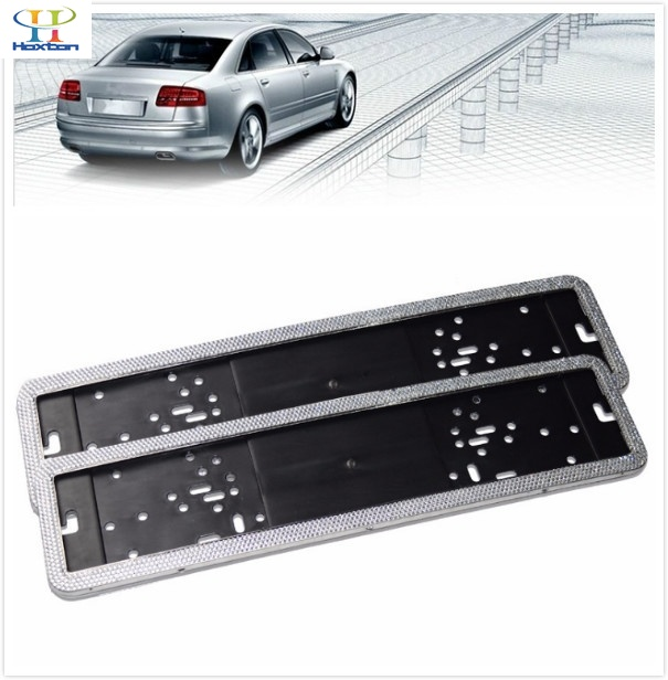 2 X European / German / Russian Cars Automotive Bling Glitter Crystal RhineStone License Plate Frame Rear Metal Frame