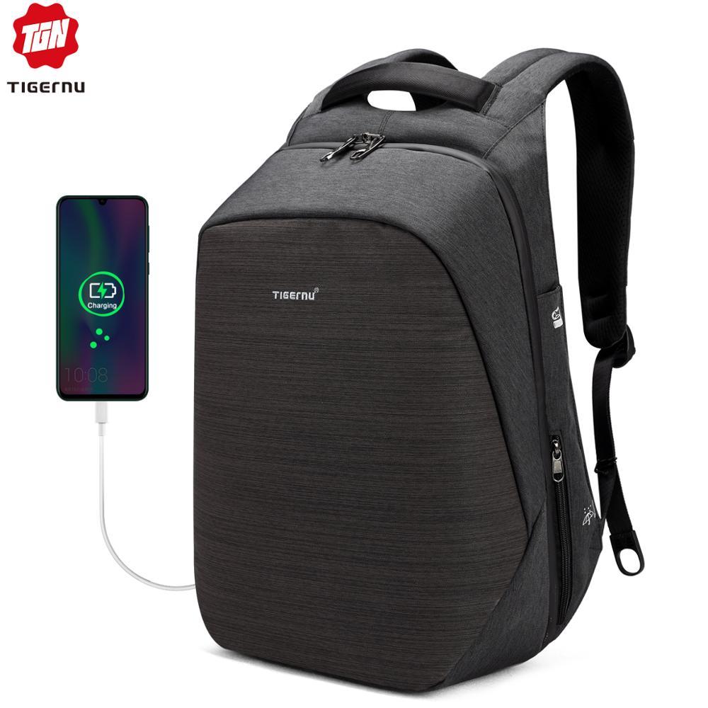 Tigernu Anti Theft Laptop Backpack Usb Charging 15.6 Backpacks Men Slim Waterproof School Backpack Bag Women Male Mochila Travel