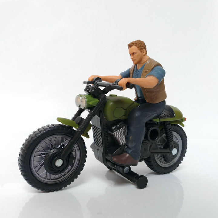 Pvc  Figure  Model  Toy  Rider + Motorcycle