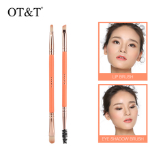 Blush Makeup-Brushes-Tool-Set Eyeshadow Bushes Cosmetic-Powder Blending Face Makeup 2pcs