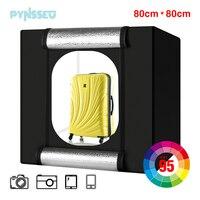 PYNSSEU 32*32 inch Light box LED big studio photo box 80 cm Folding Photography Shooting Tent box