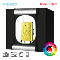 PYNSSEU 32*32 inch Light box LED big studio photo box 80 cm Folding Photography Shooting Tent box