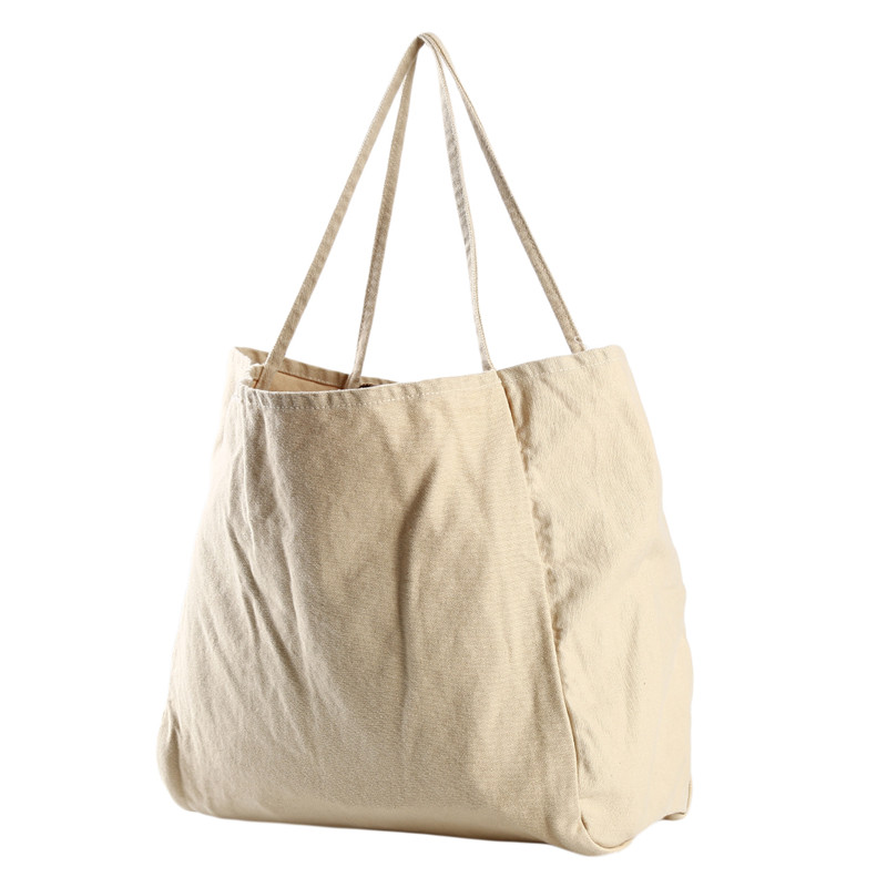 Portable Canvas Grocery Tote Reusable Shopping Bags Folding Embroidered Bag G