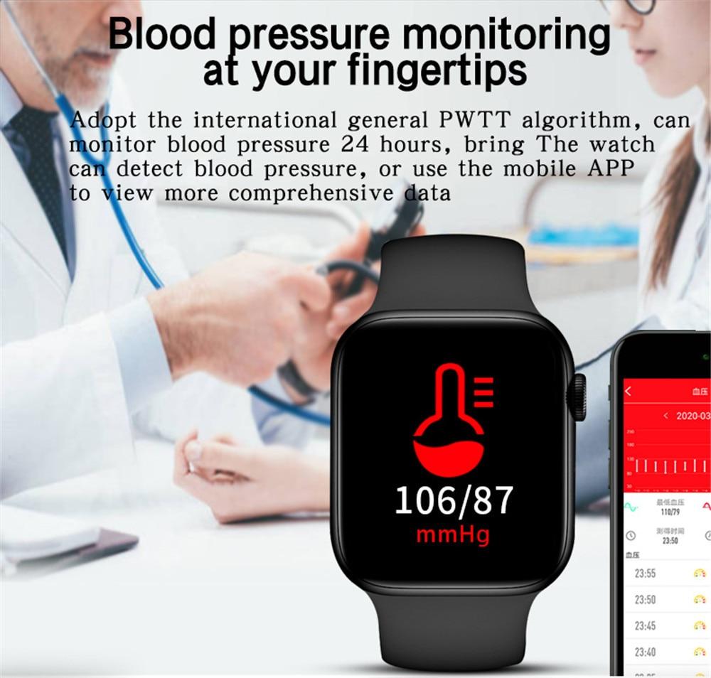 Hfbc73283441a42a19a067dcc7d4998bci 2021 HW22pro Smart Watch Men Women Split Screen Display Original Smartwatch Body Temperature Monitor BT Call For Android IOS IWO