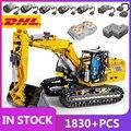 MOULD KING 13112 Motorized High-Tech Excavator truck 250 X 3 - PF version Truck Remote Building Blocks Bricks Kids toys Gifts