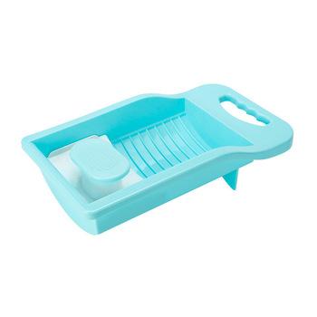 Mini deska do prania Scrubboards pranie maszyny przenośne CN (pochodzenie) PP mini lavadoras portatil envio za darmo tanie i dobre opinie FGHGF Washboard pink blue 32*18*9cm 350g Bubble bag