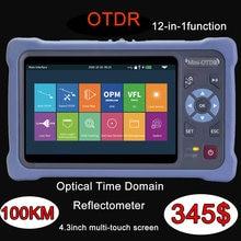 OTDR-reflectómetro de fibra óptica con 12 funciones, 1550nm, 26/24db, pantalla táctil, VFL, OLS, OPM, mapa de eventos, probador de Cable Ethernet