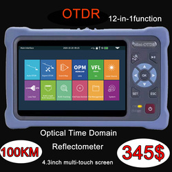 OTDR 1550nm 26/24db 12Functions Fiber Optic Reflectometer Touch Screen VFL OLS OPM Event Map Ethernet Cable Tester