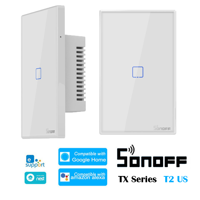 SONOFF T2 US TX Series 433 RF Smart WiFi Switch Home Automation system Compatible with Google Home Alexa Amazon Support eWelink