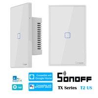 Sonoff t2 eua tx série 433 rf inteligente wi fi interruptor sistema de automação residencial compatível com o google início alexa amazon apoio ewelink