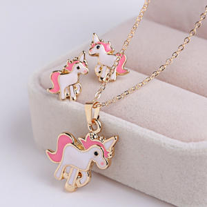 Unicorn Necklaces Jewelry-Sets Decorations-Kits Wedding-Party Earrings Gifts Women Animal